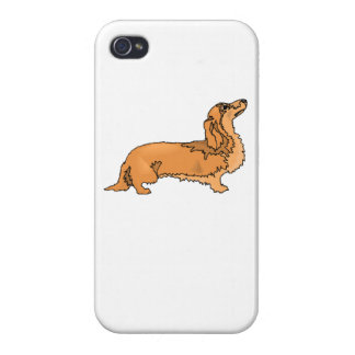 Longhaired Dachshund Cover For iPhone 4