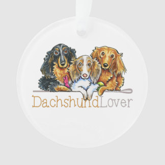 Longhaired Dachshund Lover Ornament
