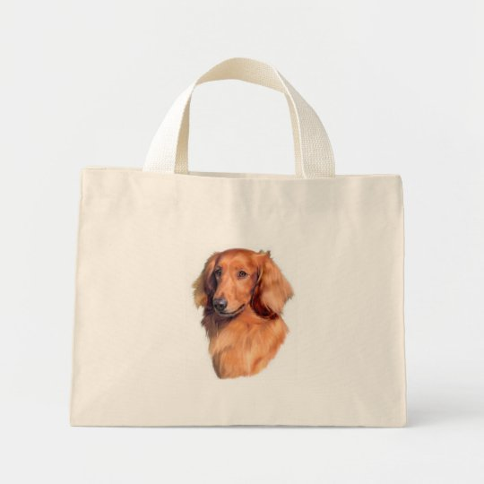 Longhaired Dachshund Mini Tote Bag