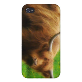 Longhaired LongHorn with Long Horns Cases For iPhone 4