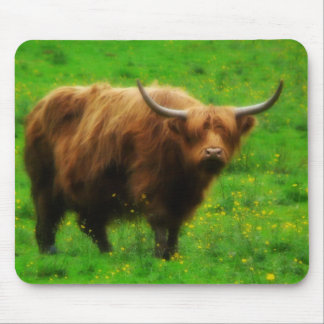 Longhaired LongHorn with Long Horns Mouse Pad