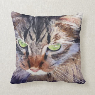 LongHairedAbyssinian Throw Pillow (RParker2)