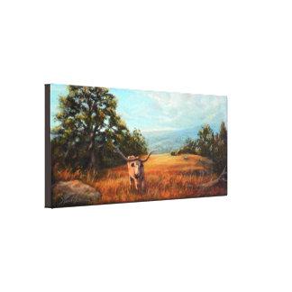 Longhorn Canvas Canvas Print