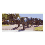 Longhorn Cattle Drive in Bronze Posters