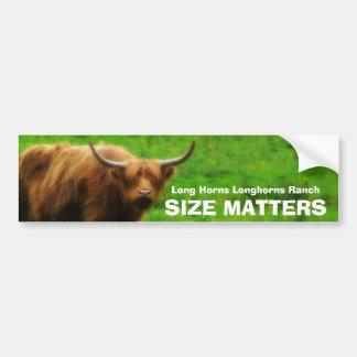 Longhorn Cattle Ranch SIZE Matters Bumper Sticker
