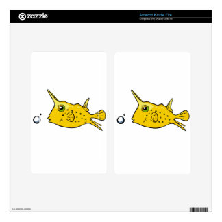 Longhorn Cowfish Kindle Fire Decals