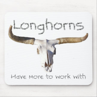 longhorn, Longhorns, Have more to work with Mouse Pad