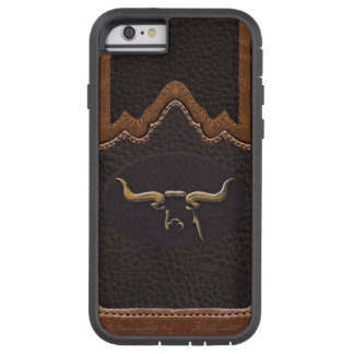 Longhorn Photo Faux Leather Tough iPhone 6 Tough Xtreme iPhone 6 Case