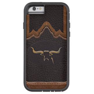 Longhorn Photo Faux Leather Tough iPhone 6 Tough Xtreme iPhone 6 Case