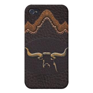 Longhorn Photo Sim Leather iPhone4 Case