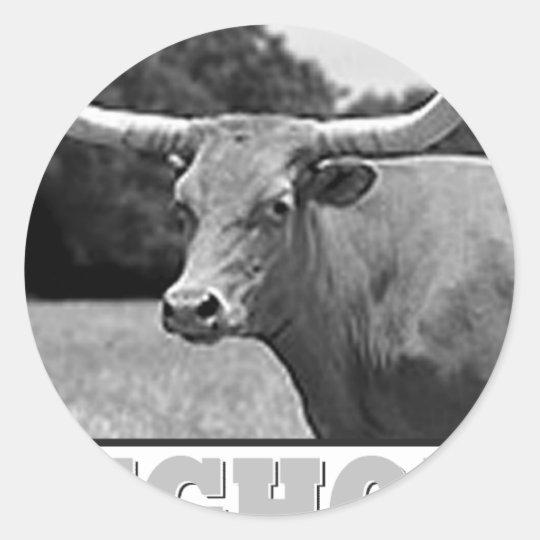 longhorn_pride classic round sticker