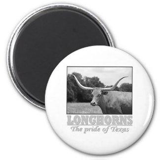 longhorn_pride imán redondo 5 cm