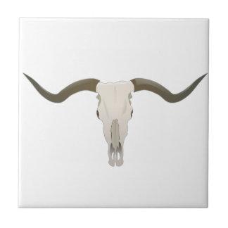 Longhorn Skull Ceramic Tile
