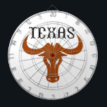 """LONGHORN TEXAS DARTBOARD<br><div class=""""desc"""">Texas UT Longhorns show your pride at the game with this design from Great Notions.</div>"""