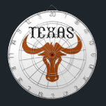 "LONGHORN TEXAS DARTBOARD<br><div class=""desc"">Texas UT Longhorns show your pride at the game with this design from Great Notions.</div>"