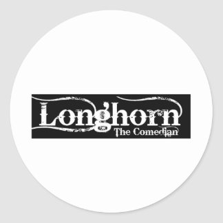 Longhorn The Comedian Merchandise Classic Round Sticker
