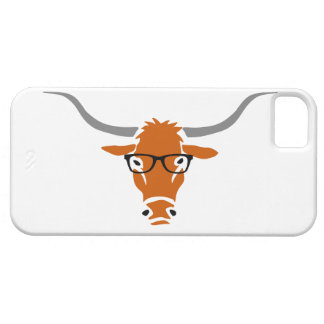 Longhorn with Hipster Glasses iPhone 5 Cases