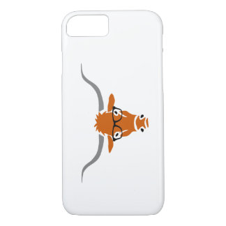 Longhorn with Hipster Glasses iPhone 7 Case