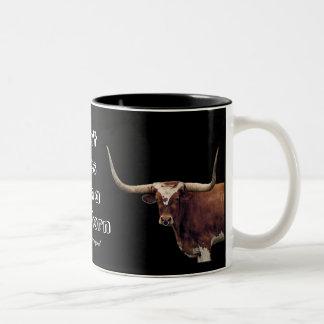 LonghornCoffeeMug-customize Two-Tone Coffee Mug