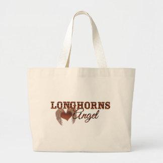 Longhorns Angel Large Tote Bag