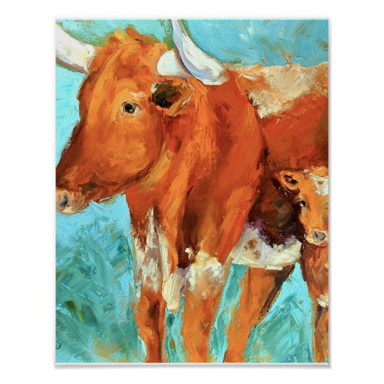 Longhorns Boots and Ginger Poster