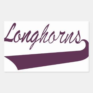 Longhorns Rectangular Sticker