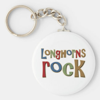 Longhorns Rock Keychain