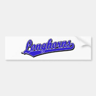 Longhorns  script logo in blue car bumper sticker