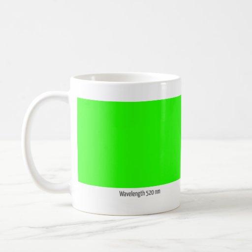 Longitud de onda 520 nanómetro taza de café