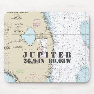 Longitud náutica de la latitud de Júpiter la Mouse Pads