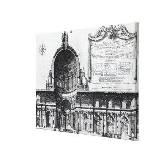 Longitudinal cross-section of St. Peter's Canvas Print