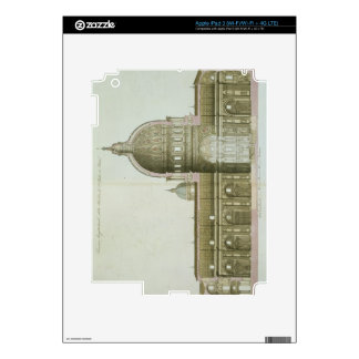 Longitudinal Cross-Section of St. Peter's in Rome, iPad 3 Decals