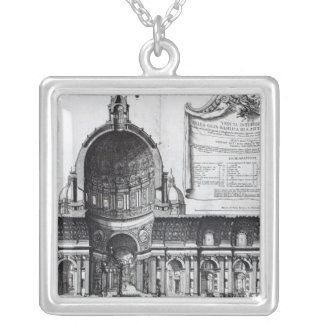 Longitudinal cross-section of St. Peter's Silver Plated Necklace