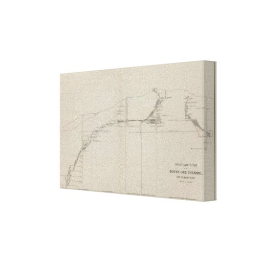 Longitudinal Section of the South Ore Channel Canvas Print