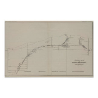 Longitudinal Section of the South Ore Channel Print