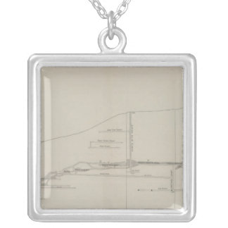 Longitudinal Section of the South Ore Channel Square Pendant Necklace
