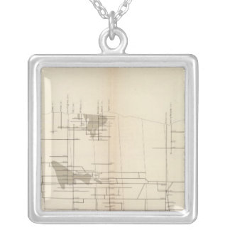 Longitudinal Vertical Projection I Comstock Lode Silver Plated Necklace