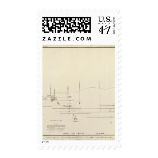 Longitudinal Vertical Projection III Comstock Lode Postage