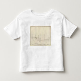 Longitudinal Vertical Projection III Comstock Lode T-shirts
