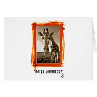 Longneck Card