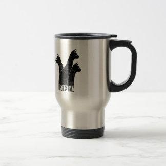 LongNeck Catz art deco travel mug
