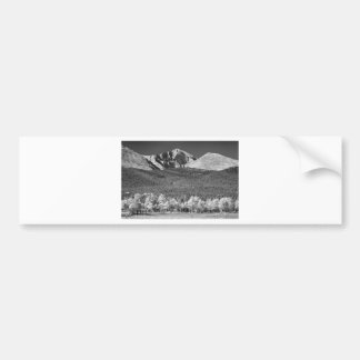 Longs Peak a Colorado Playground In Black and Whit Car Bumper Sticker