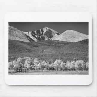 Longs Peak a Colorado Playground In Black and Whit Mouse Pad