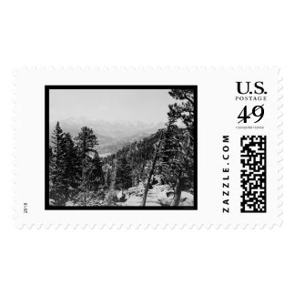 Longs Peak and the Continental Divide 1922 Postage
