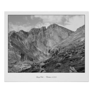 Longs Peak Beautiful Rugged Rocky Mountain Poster