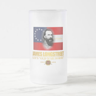 Longstreet (Southern Patriot) 16 Oz Frosted Glass Beer Mug
