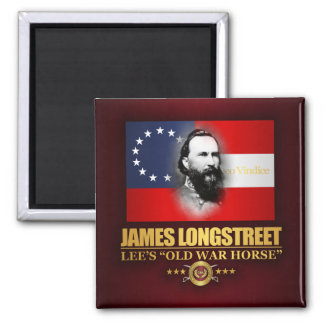 Longstreet (Southern Patriot) 2 Inch Square Magnet