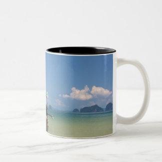 Longtail boat Two-Tone coffee mug