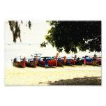 Longtail Boats on Hong Island, Thailand Print Art Photo