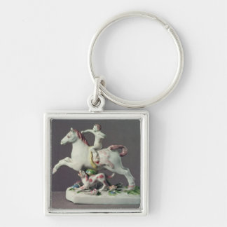 Longton Hall figure of Cupid riding a horse Keychain